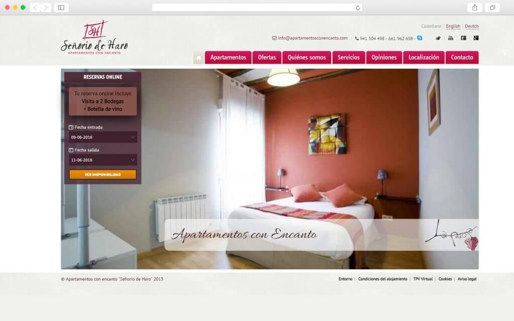 Sitio Web Apartamentos con Encanto