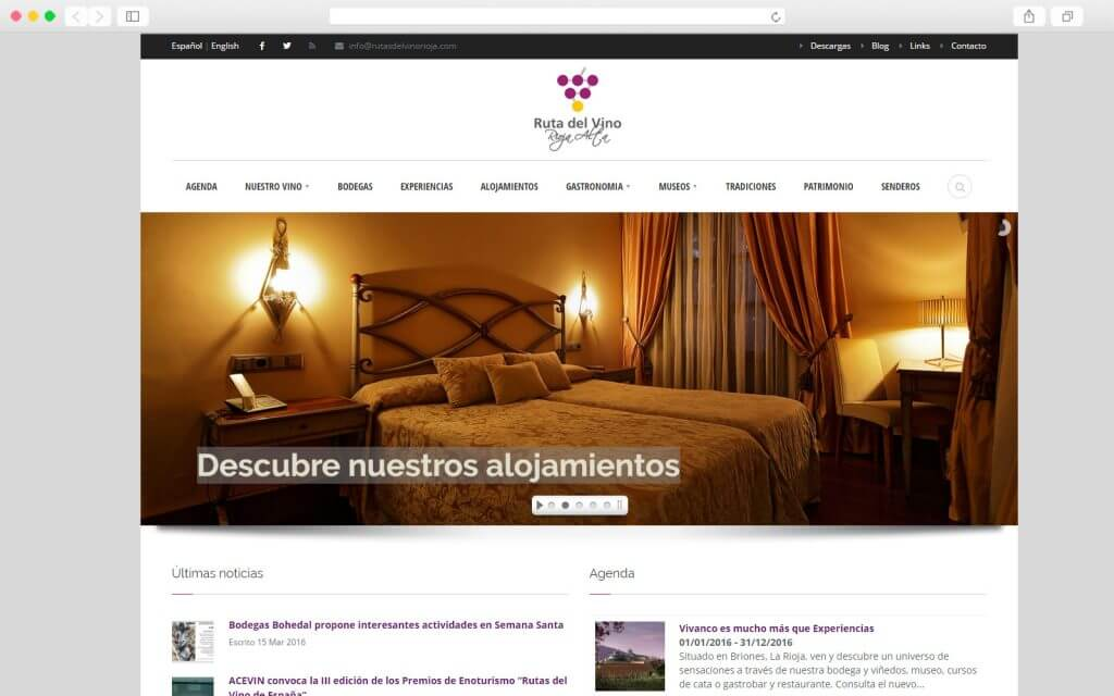 Portal Web Ruta del Vino la Rioja Alta