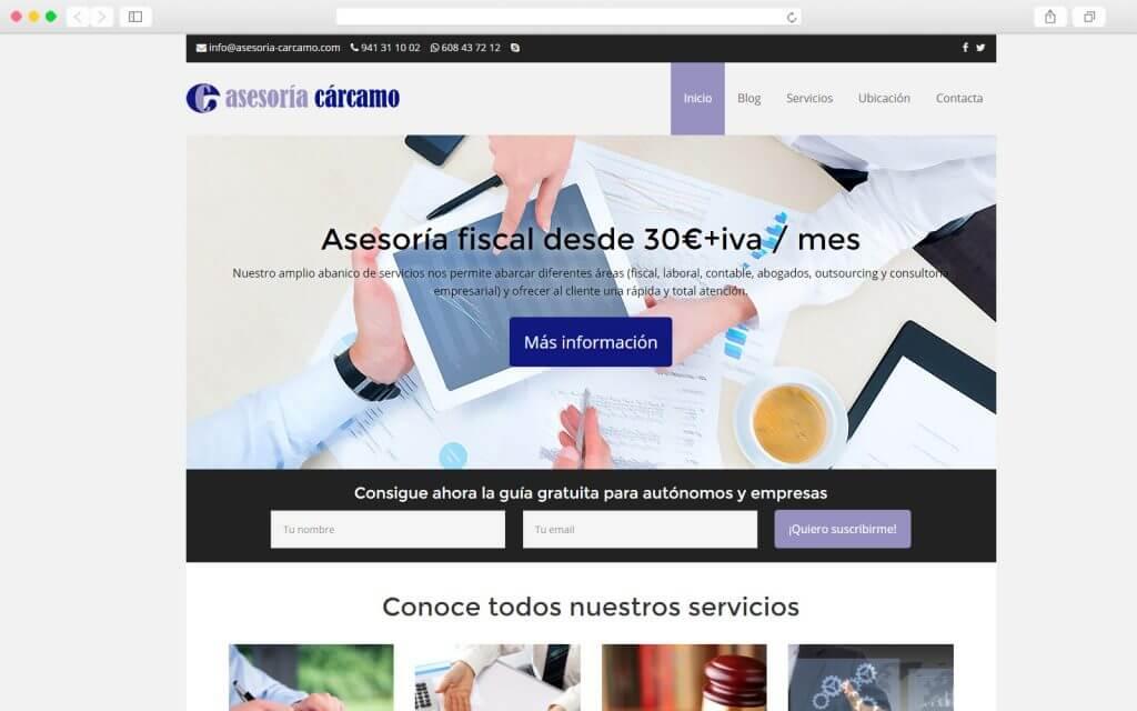 Desarrollo Web para Asesoría Cárcamo