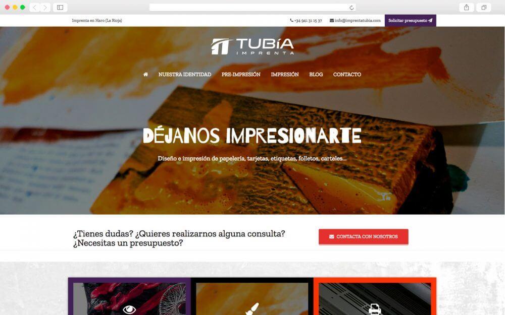 Desarrollo Web para Imprenta TUBIA