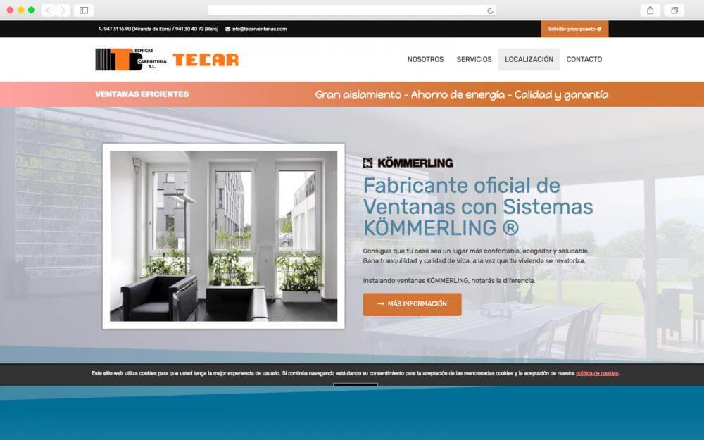 Desarrollo Web para ventanas TECAR