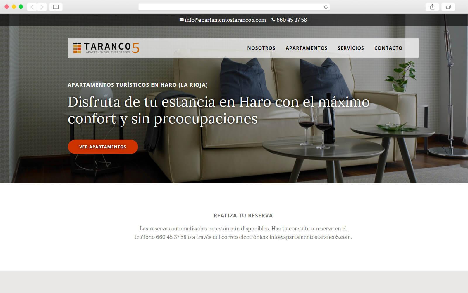 Home page de Apartamentos Taranco 5