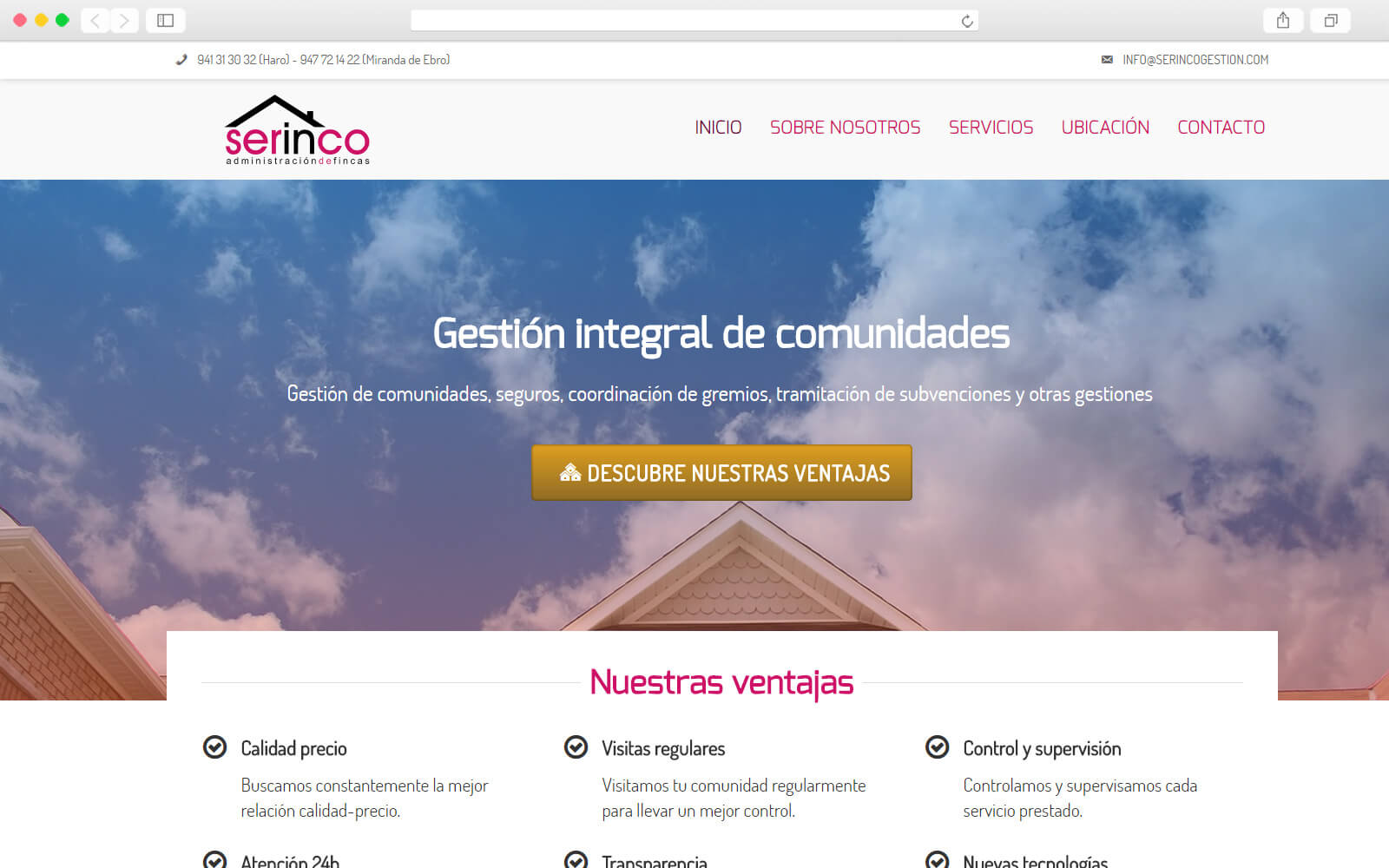 Home de Serinco Gestión Integrada