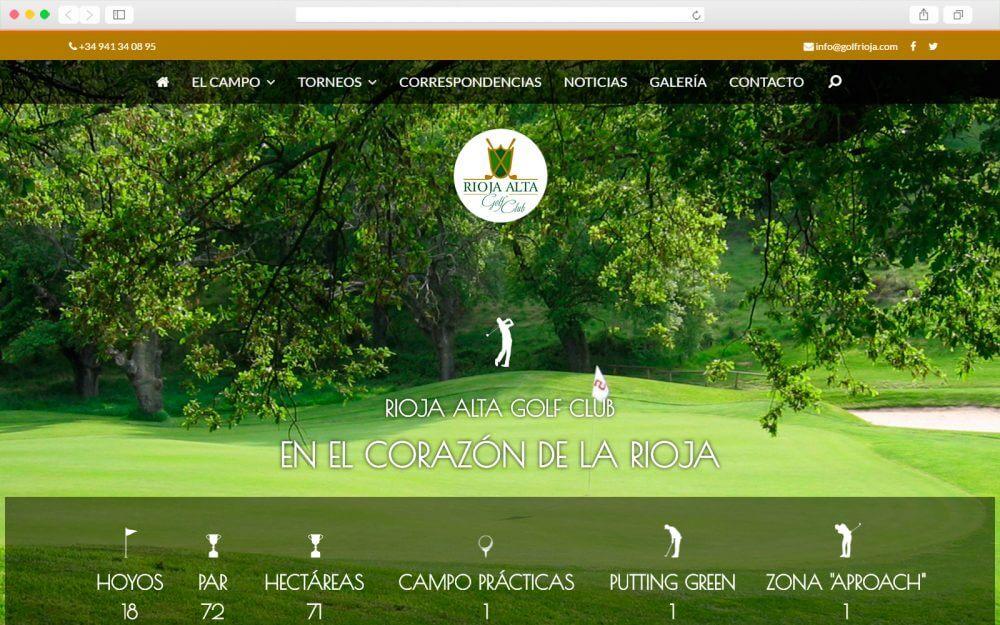 Desarrollo sitio Web para Rioja Alta Glof Club