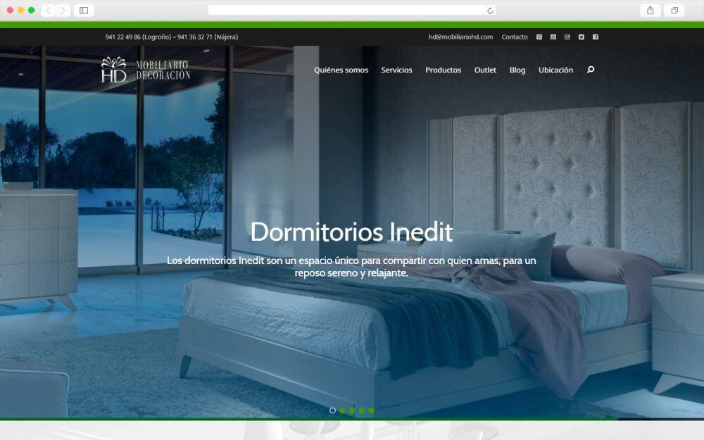 Desarrollo de Sitio Web para mobiliario HD