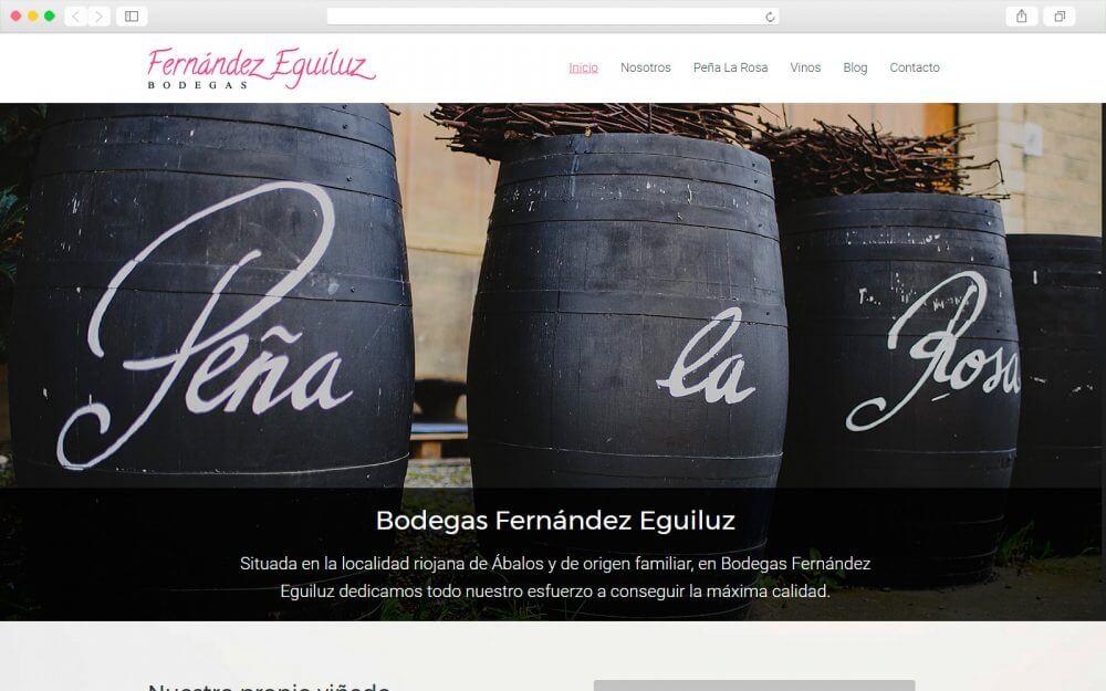Diseño de sitio Web para Fernández Eguiluz