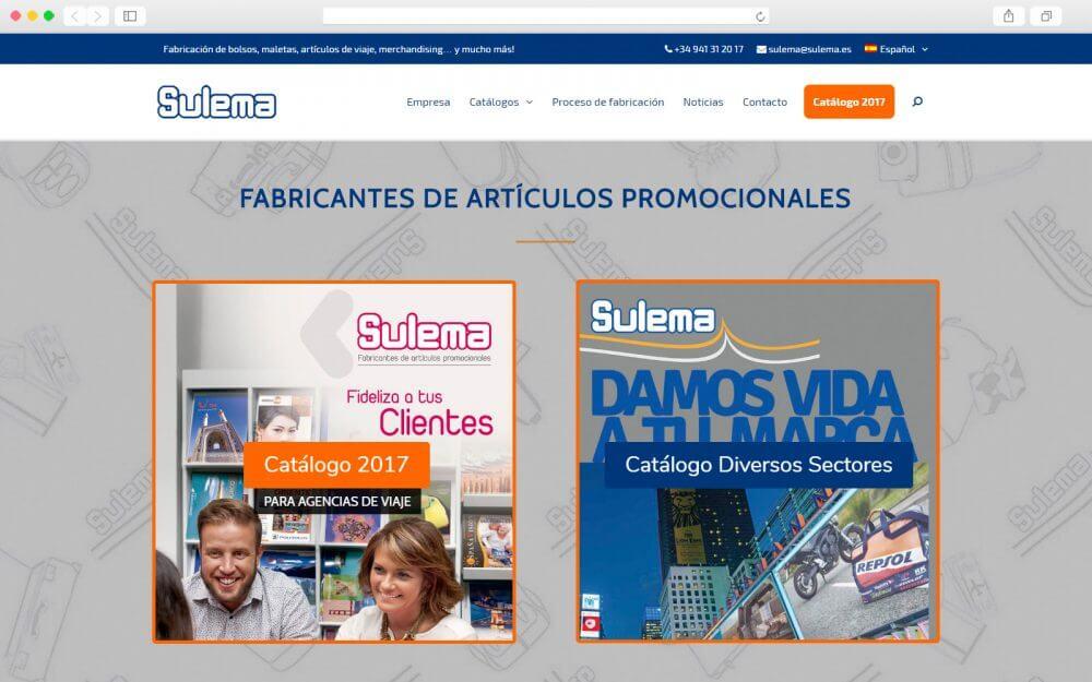 Desarrollo de sitio Web para SULEMA