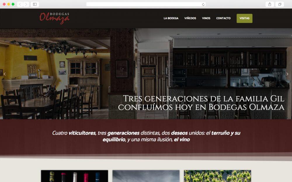 Home page de Bodegas Olmaza
