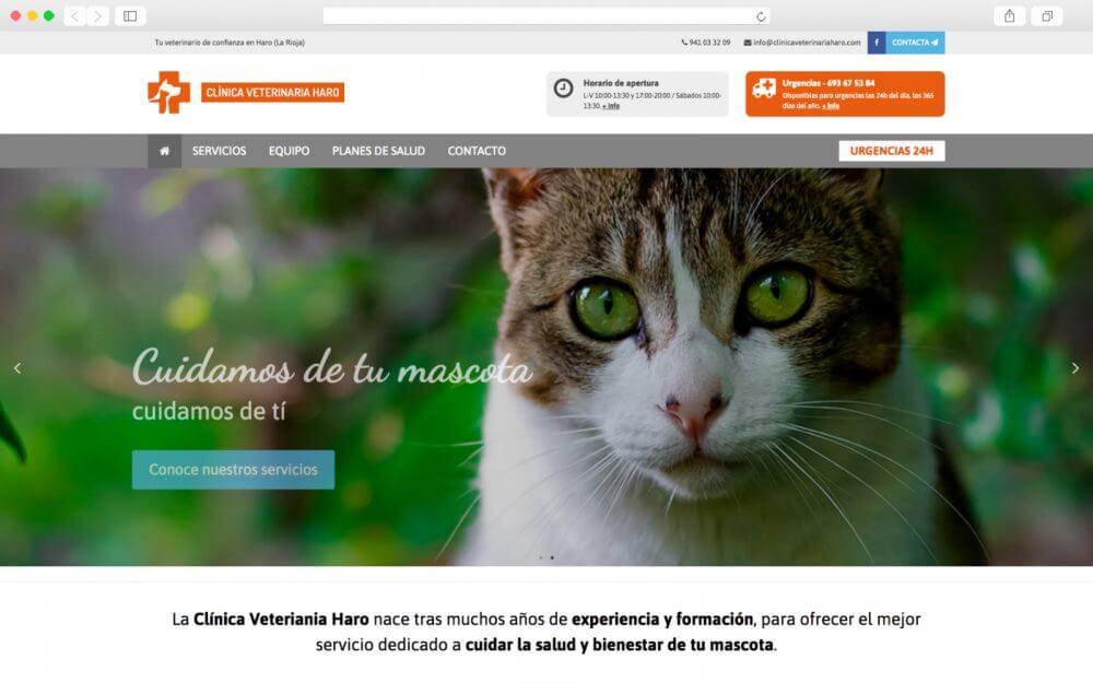 Desarrollo de sitio Web para Clínica Veterinaria Haro
