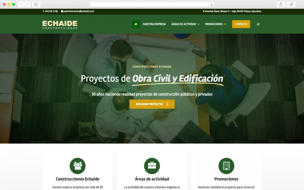 Desarrollo Web para Construcciones Echaide