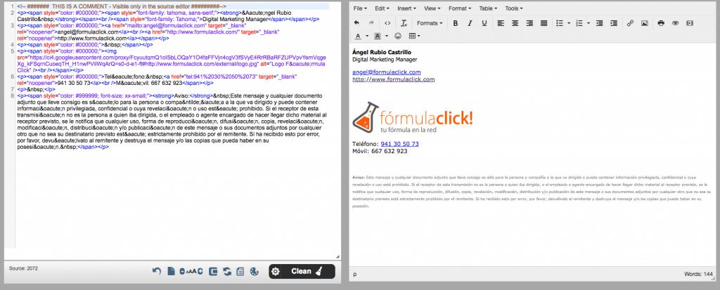 Captura de pantalla del editor de HTML online https://html5-editor.net/