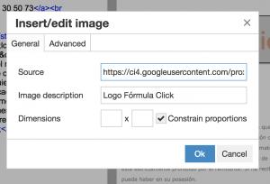 Insertar imagen con editor online de HTML