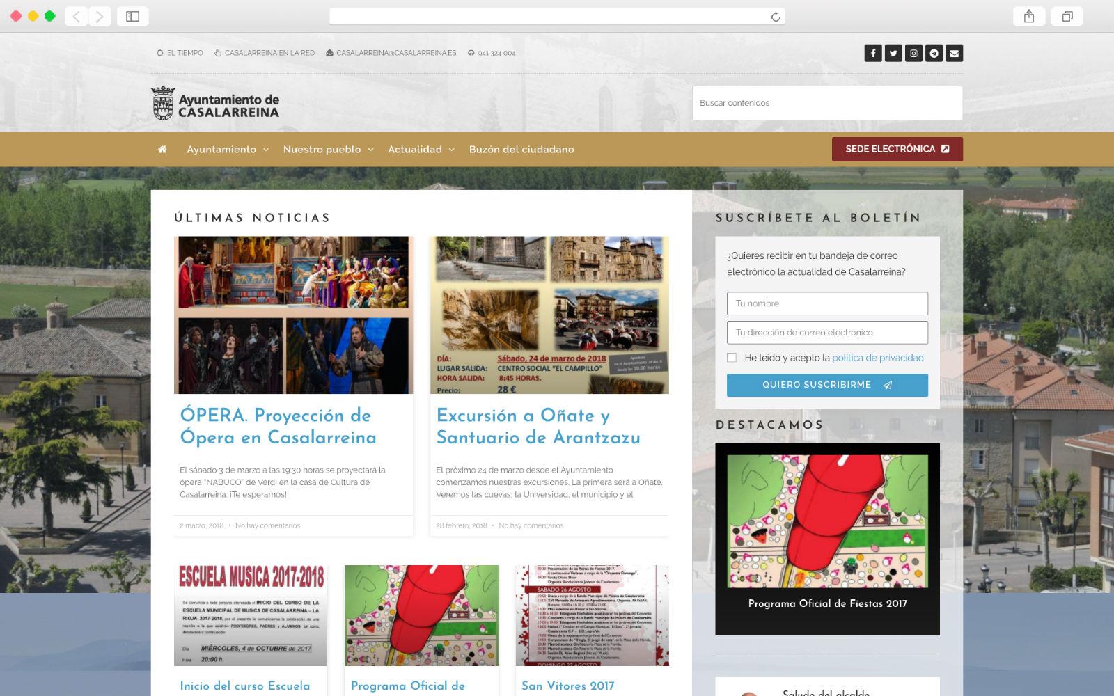 Sitio Web del Ayuntamiento de Casalarreina