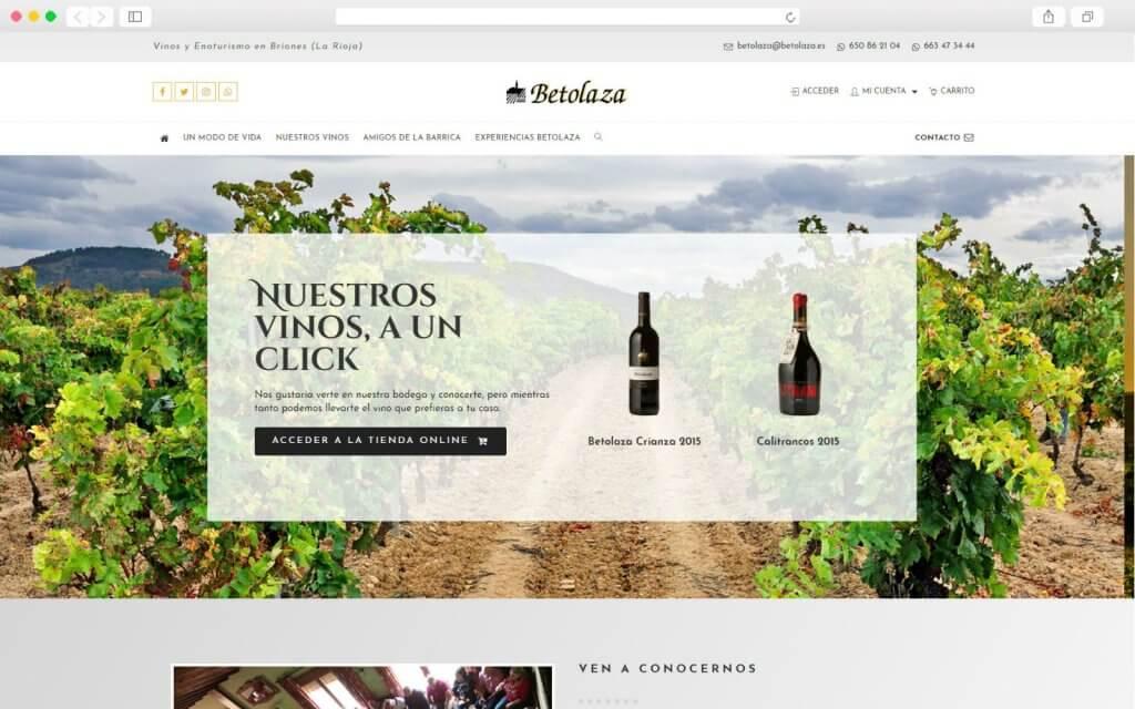 Sitio Web de Bodega Betolaza