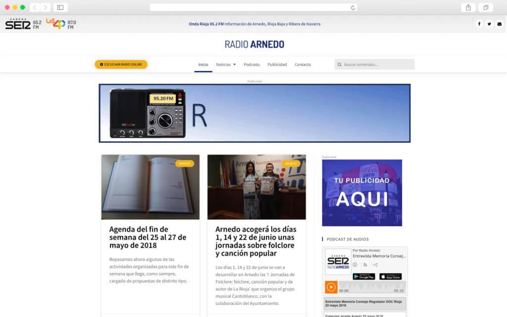 Sitio Web de Radio Arnedo del a Cadena SER